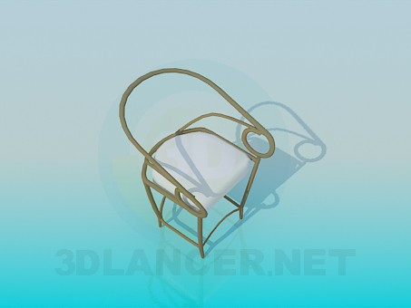 3d model Metal chair for the porch or gazebo - preview