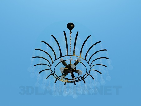 3d model Chandelier with glass ornaments - preview