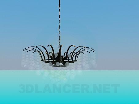 modelo 3D Lámpara con adornos de vidrio - escuchar