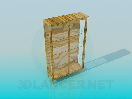 3d model Glazed bookcase - preview