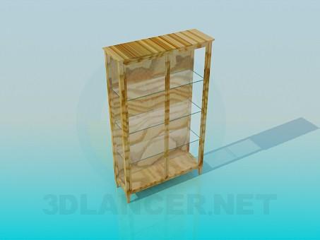 modelo 3D Librería de cristal - escuchar