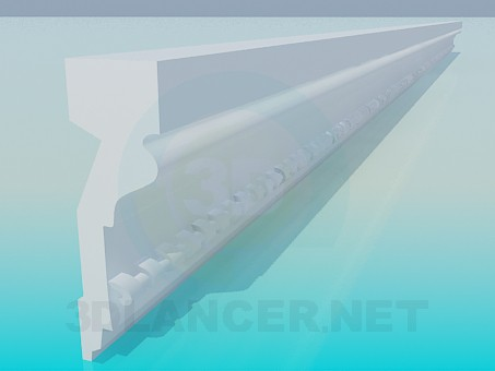 modelo 3D Baguette - escuchar