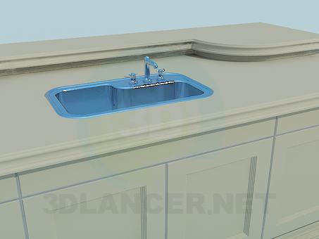 3d model Cupboard under sink - preview