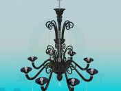 The chandelier in the classical style