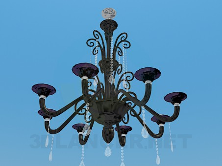 3d model The chandelier in the classical style - preview
