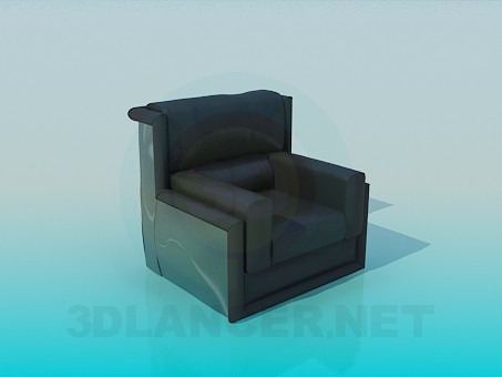 3d modeling Armchair modern model free download