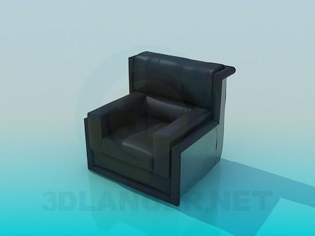 modelo 3D Sillón moderno - escuchar