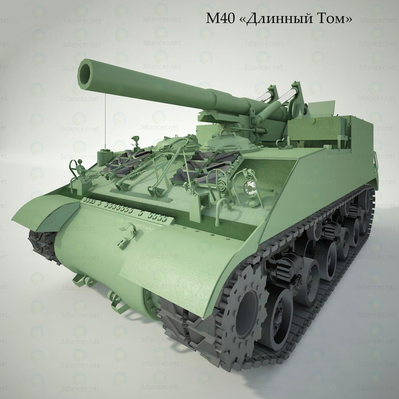 3d self-propelled unit М40 43 model buy - render