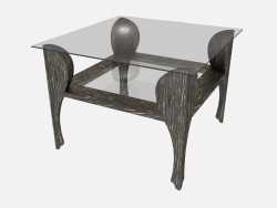 Square coffee table on curly legs Traviata Z04