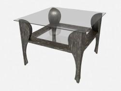 Квадратный журнальный стол на фигурных ножках Traviata Z04
