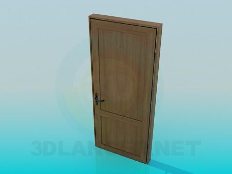 3d моделирование Дверь деревянная модель скачать бесплатно