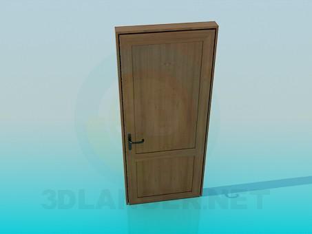 modelo 3D Puerta de madera - escuchar