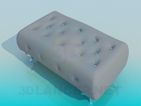 modelo 3D Taburete acolchado doble - escuchar