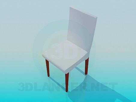 3d модель Стілець зі спинкою – превью