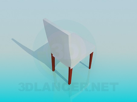 3d model Stool with back - preview