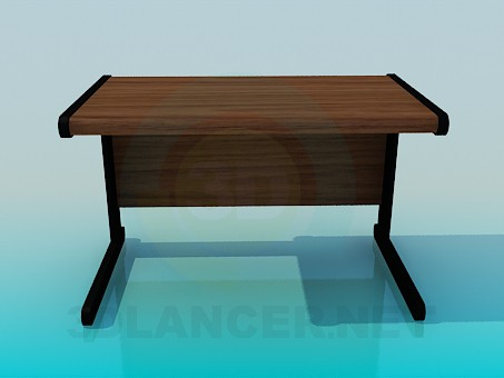 3d model Schoolchild's desk - preview