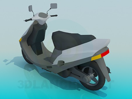 3d model scooter - preview