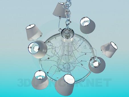 3d моделирование Люстра металлик модель скачать бесплатно