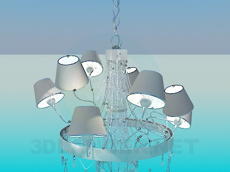 3d model Chandelier metallic - preview