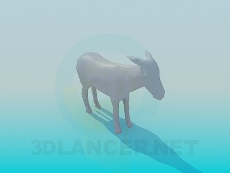 descarga gratuita de 3D modelado modelo Burro