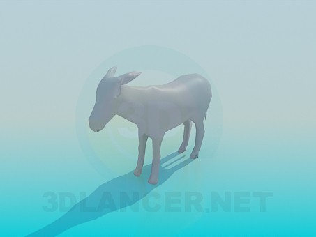 3d model Donkey - preview