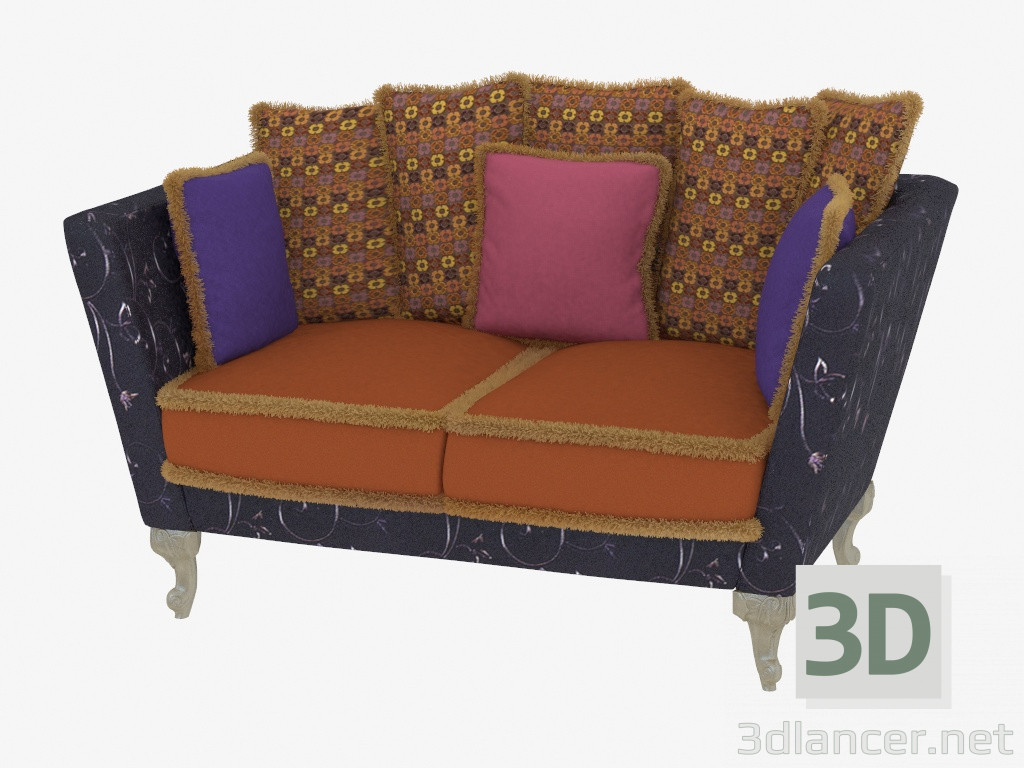 3d model sofa bed double manufacturer paolo lucchetta id 19165 for Sofa bed 3d model