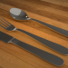 3d 3D Spoon Set model buy - render