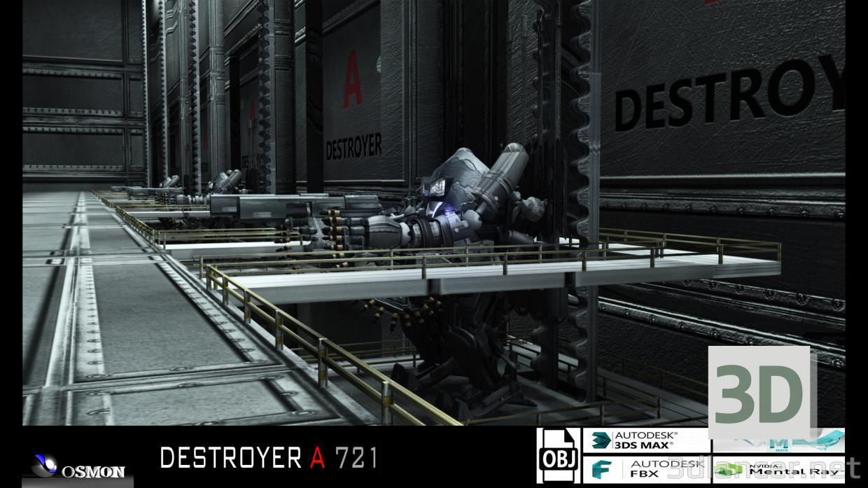 3d DESTROYER A 721 model buy - render