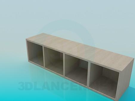 modelo 3D Gabinete del zapato - escuchar