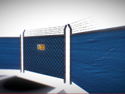 Game Ready  - Tarped Metal Industrial Fence