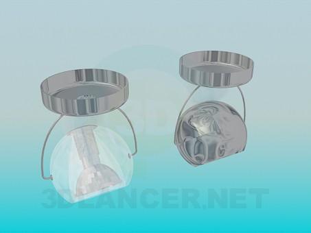 modelo 3D Forma esférica de la luminarias de halógeno - escuchar