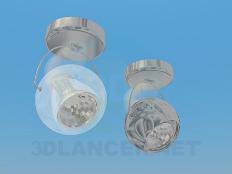 3d model Halogen luminaires spherical shape - preview