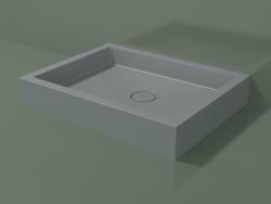 Shower tray Alto (30UA0110, Silver Gray C35, 90x70 cm)