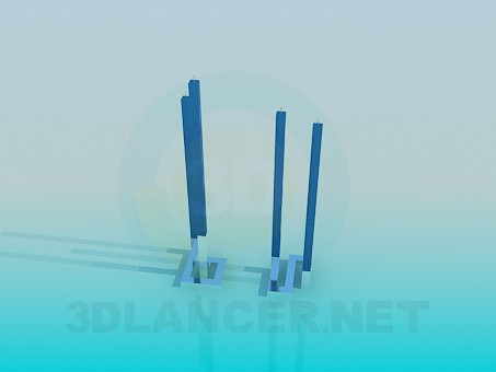 3d modeling Original tall candles model free download