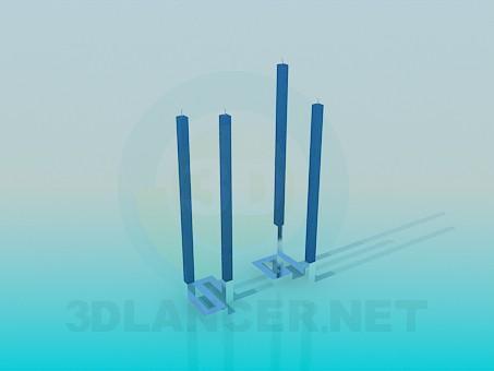 3d модель Оригінальний високі свічки – превью
