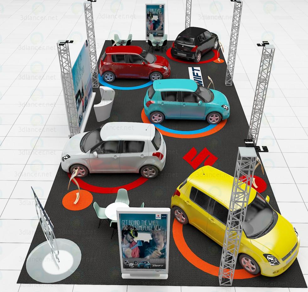 coche road show 3D modelo Compro - render