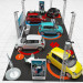 3d car road show model buy - render