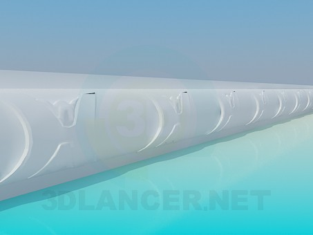3d model Ceiling molding - preview
