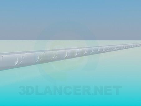 modelo 3D Moldura de techo - escuchar