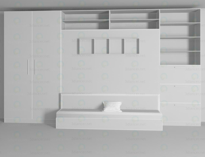 3d модель Шкаф трансформер – превью