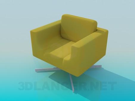 modelo 3D Sillón - escuchar