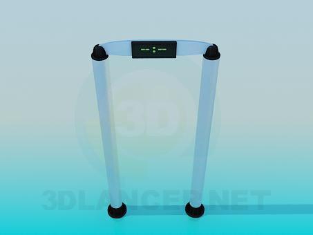 descarga gratuita de 3D modelado modelo Detector de metales