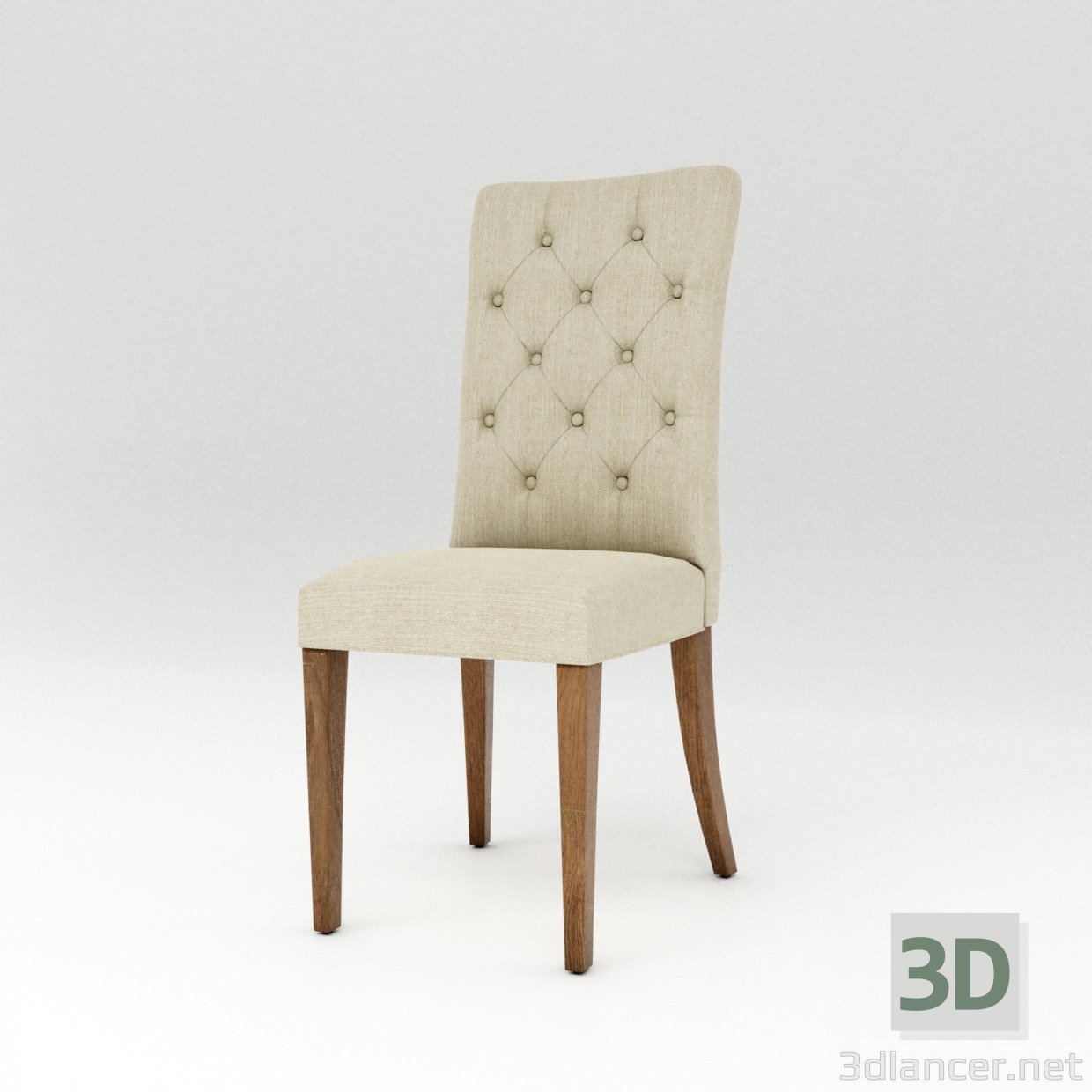 3d model Padded Dining Chair - preview