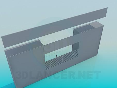modelo 3D En el conjunto de muebles de sala de estar - escuchar