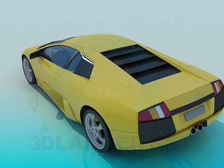 3d model Lamborghini Murcielago - vista previa