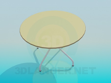 3d model Round table - preview