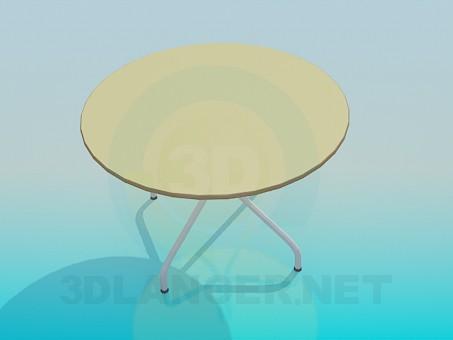3d model Mesa redonda - vista previa