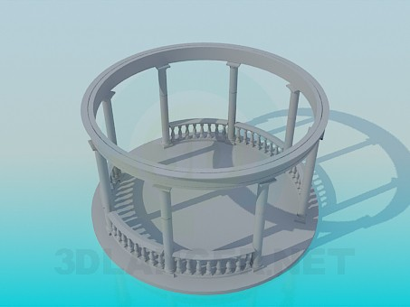3d modeling Round bower model free download
