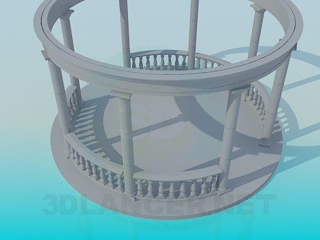 3d model Round bower - preview