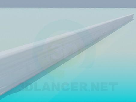 3d модель Багет потолочный – превью